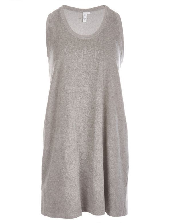 CALVIN KLEIN TERY TANK DRESS grey
