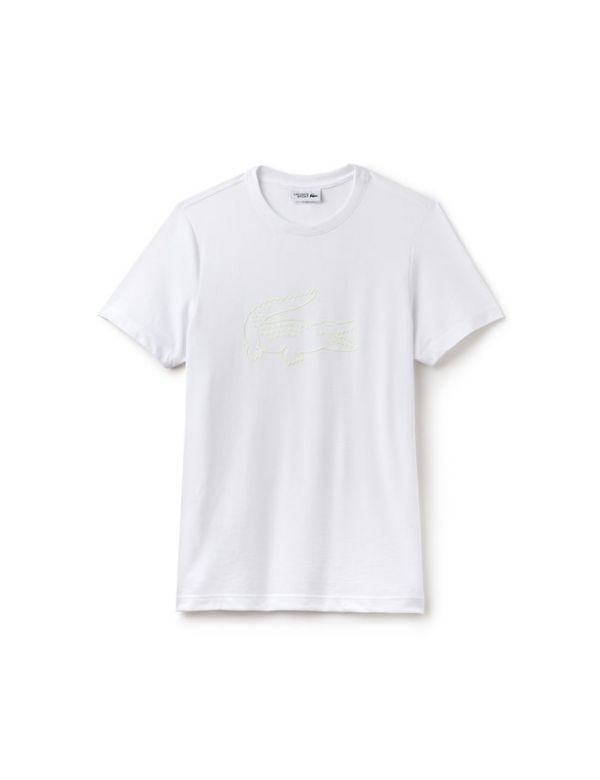 LACOSTE SPORT TENNIS T-SHIRT OVERZISED CROCODIL WHITE
