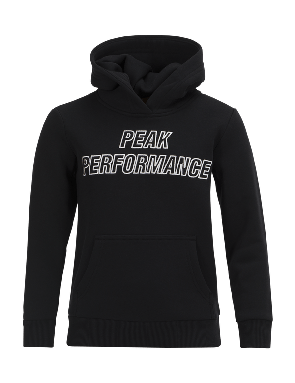 PEAKPERFORMANCE KIDS HOODED SWEATER BLACK