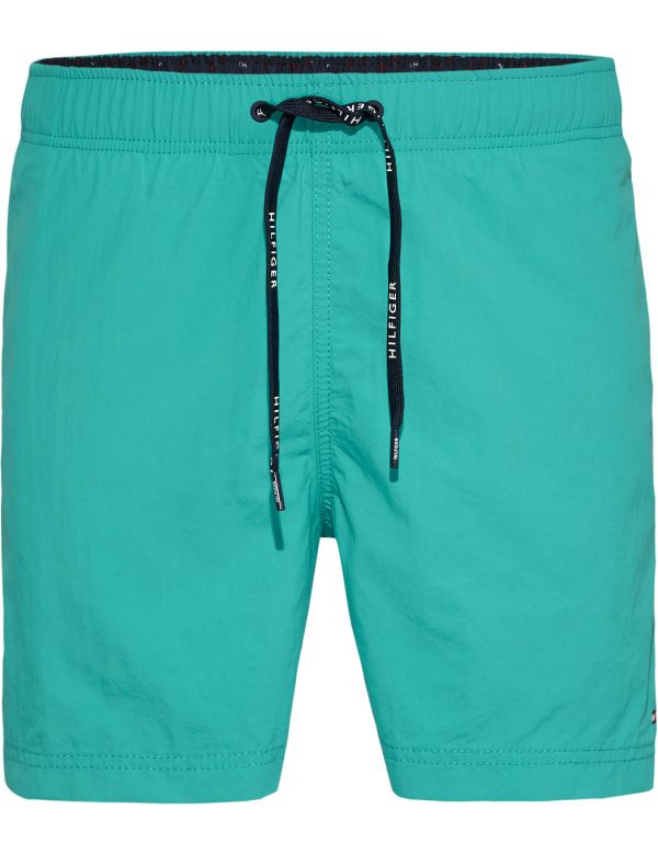 TOMMY HILFIGER MEDIUM DRAWSTRING SOLID ZWEMSHORT GREEN