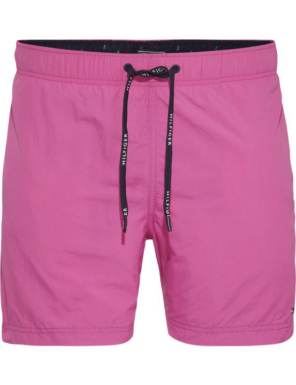 TOMMY HILFIGER MEDIUM DRAWSTRING SOLID ZWEMSHORT PINK