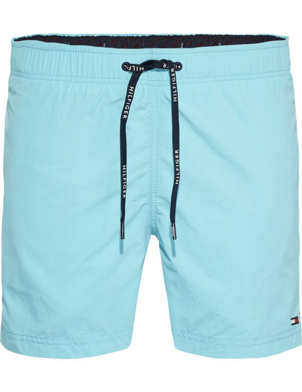 TOMMY HILFIGER MEDIUM DRAWSTRING SOLID ZWEMSHORT BLUE