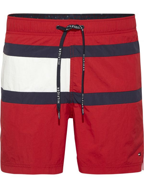 TOMMY HILFIGER MEDIUM DRAWSTRING ZWEMSHORT RED