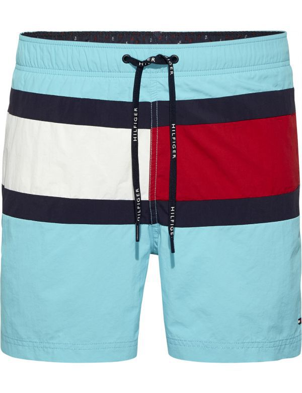 TOMMY HILFIGER MEDIUM DRAWSTRING TURQUOISE