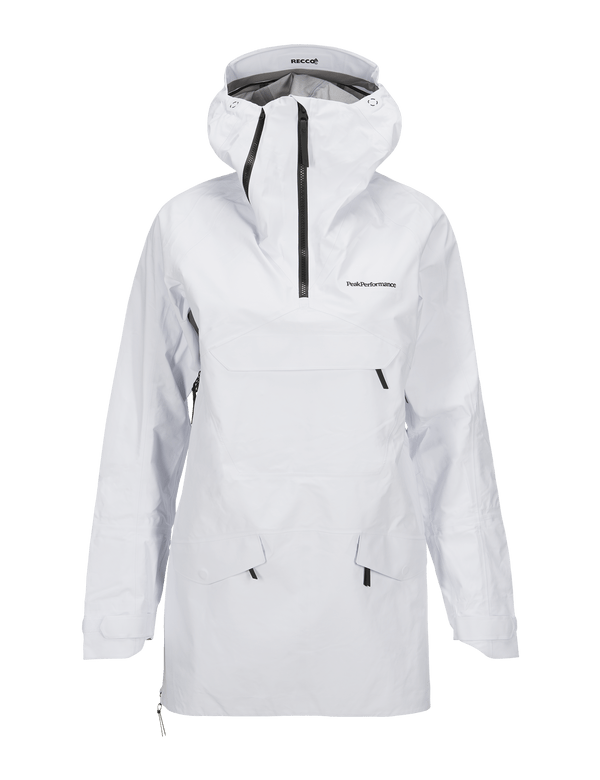 PEAKPERFORMANCE WOMEN'S VOLCAN SKI ANORAK WHITE